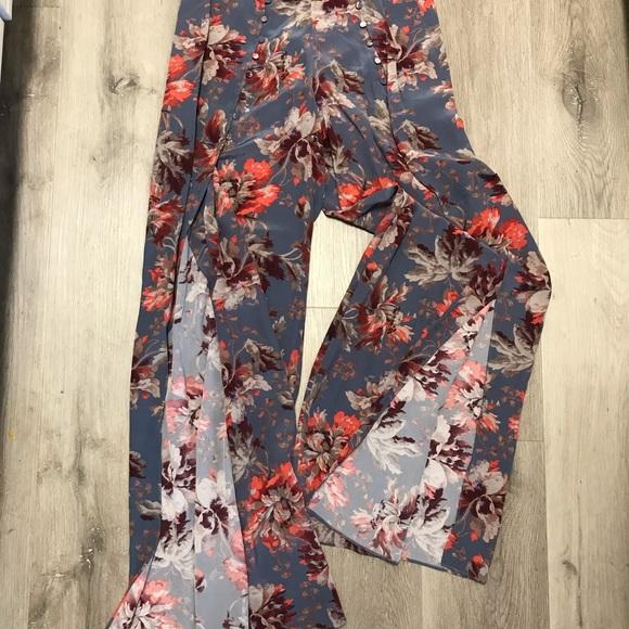 Open End Pants - Silk open leg flow style pants